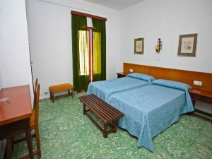 slaapkamers met bedden van het hotel