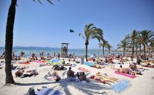 Het strand aan de boulevard van Mallorca