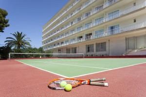 tennisbaan van het hotel