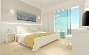Slaapkamer van het Whala Beach hotel