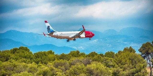 Landen op het vliegveld van Mallorca