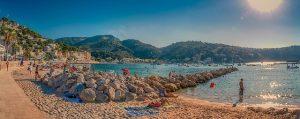 Strand van Sóller op Mallorca